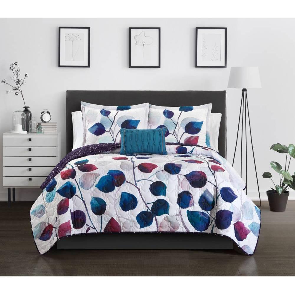 Queen 8pc Megaera Bed In A Bag Quilt Set Multi Chic Home Design