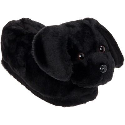 FUNZIEZ! - Women's Black Labrador Animal Slippers