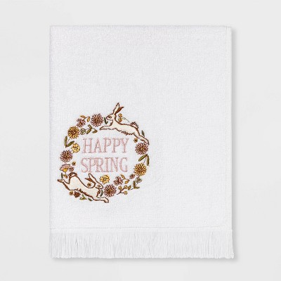 Happy Spring Hand Towel White - Threshold™