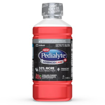 Pedialyte AdvancedCare Plus Chilled Cherry Pomegranate - 33.8