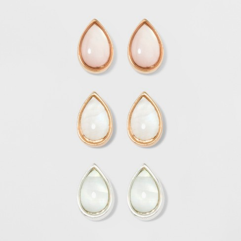 Teardrop Shape Earring Set - A New Day™ - image 1 of 3