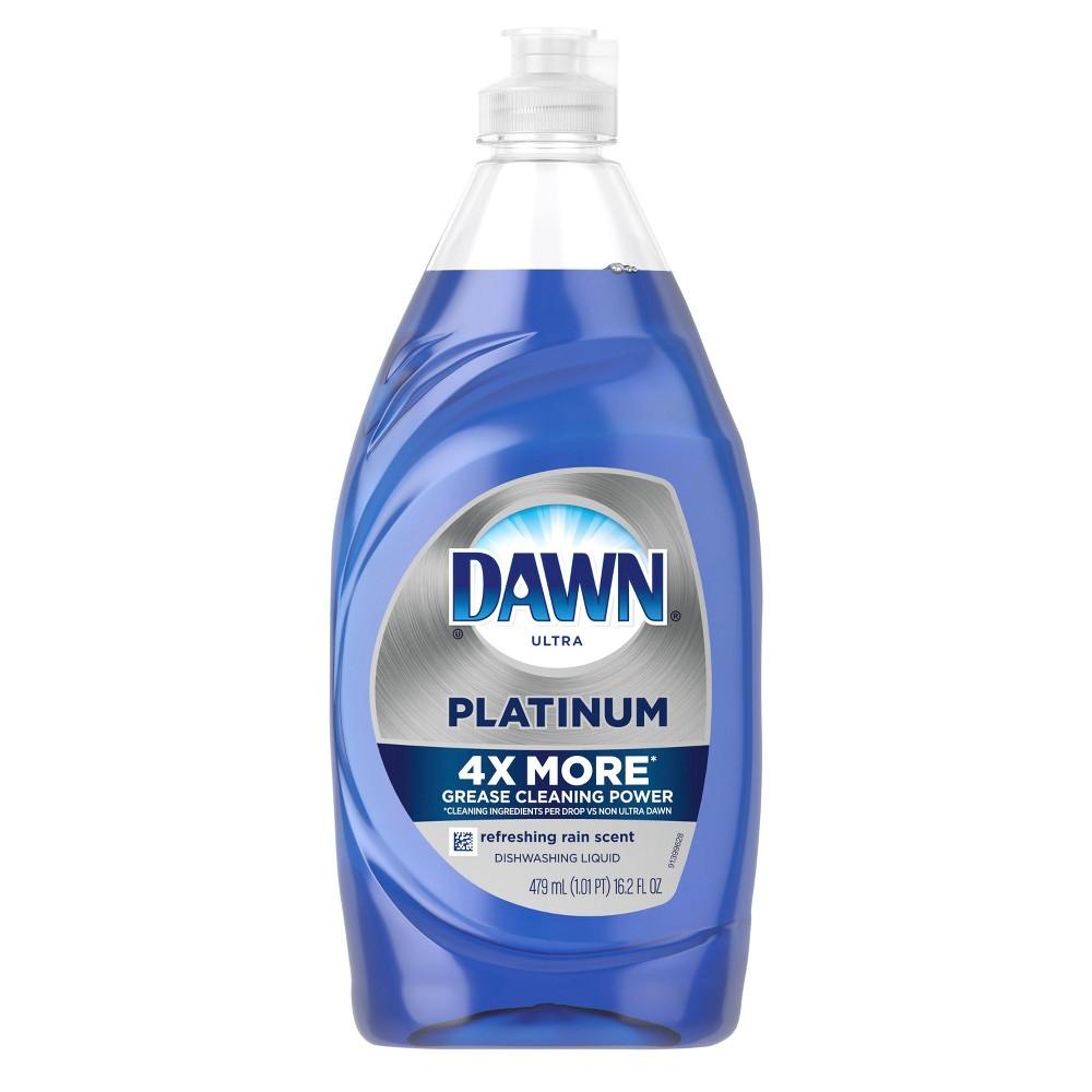 Dawn Platinum Dishwashing Liquid Dish Soap Refreshing Rain - 16.2oz, Multi-Colored