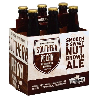 Lazy Magnolia Southern Pecan Brown Ale Beer - 6pk/12 fl oz Bottles