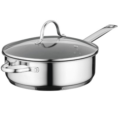 "BergHOFF Comfort 10"" Non-Stick 18/10 Stainless Steel Covered Deep Skillet"