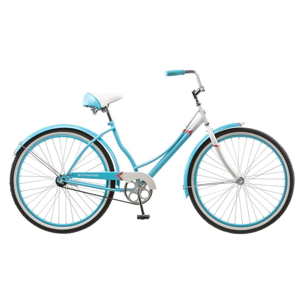 Schwinn Women's Legacy 26 Cruiser Bike- Blue/White, Blue Glacier