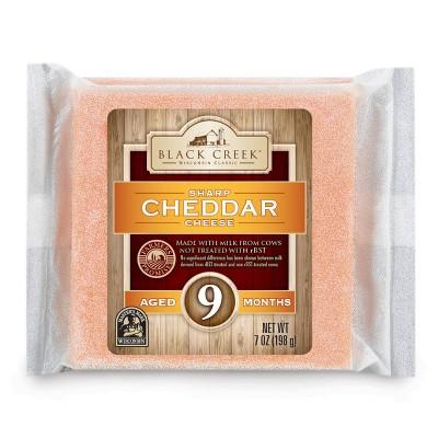 Black Creek Sharp Cheddar Cheese Aged 9 Months - 7oz
