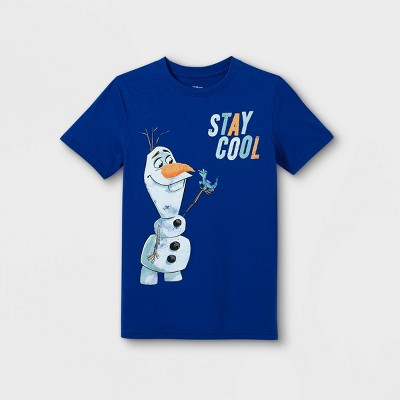 Boys' Frozen Olaf & Bruni Stay Cool Short Sleeve Graphic T-Shirt - Blue - Disney Store