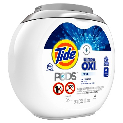 Tide Pods Laundry Detergent Pacs With OxiFree - 32ct