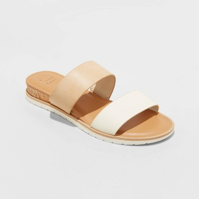 Women's Coco Two Band Slide Sandals - A New Day™