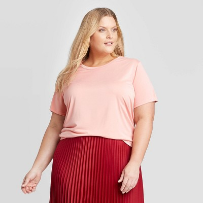 Women's Plus Size Short Sleeve Crewneck Sandwash T-Shirt - A New Day™