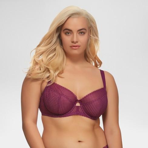 93708407aa Paramour® Women s Dahlia Geo Lace Unlined Bra - Purple 38H   Target