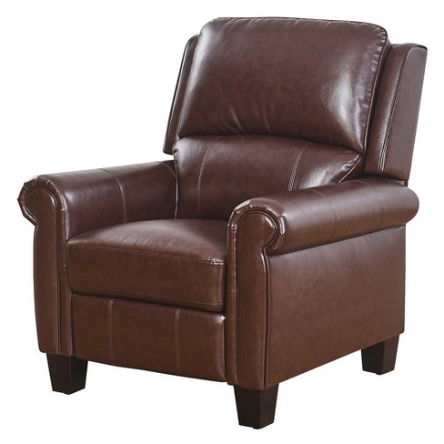 Willow Push back Leather Recliner - Abbyson - image 1 of 4