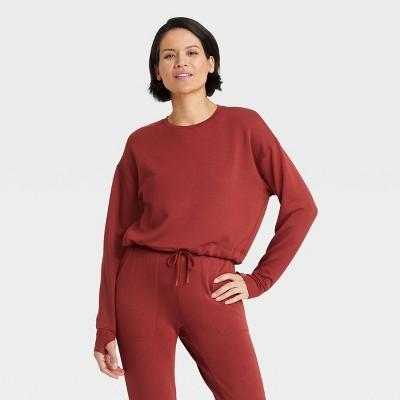 Women's Cozy Soft Fleece Crewneck Pullover Sweatshirt - All in Motion™