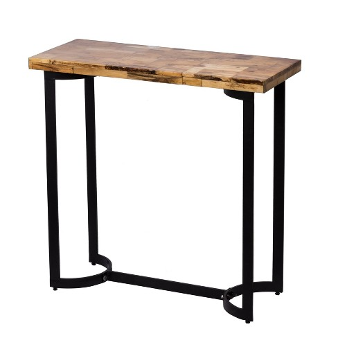 Urban Industrial Console Table Matte Black - A&B Home - image 1 of 4
