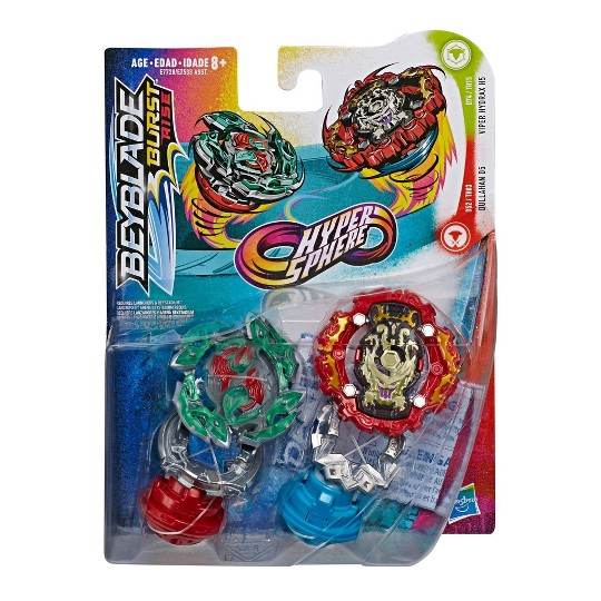 Beyblade Burst Rise Hypersphere Dual Pack Viper Hydrax H5 and Dullahan D5 image number null
