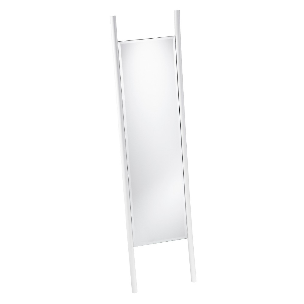 "Image of ""Holly & Martin 70""""x17"""" Swain Leaning Floor Mirror White"""