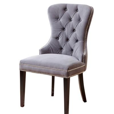 Monet Tufted Velvet Dining Chair Gray - Abbyson Living