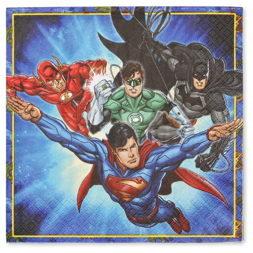 Image of 16 ct Justice League Napkin