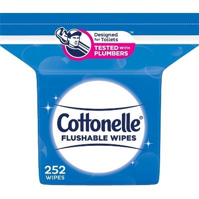 Cottonelle Flushable Wet Wipes Refill Pack - 252ct