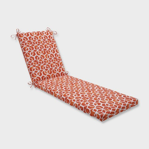 "80"" x 23"" x 3"" Celtic Marmalade Chaise Lounge Outdoor Cushion Orange - Pillow Perfect - image 1 of 2"