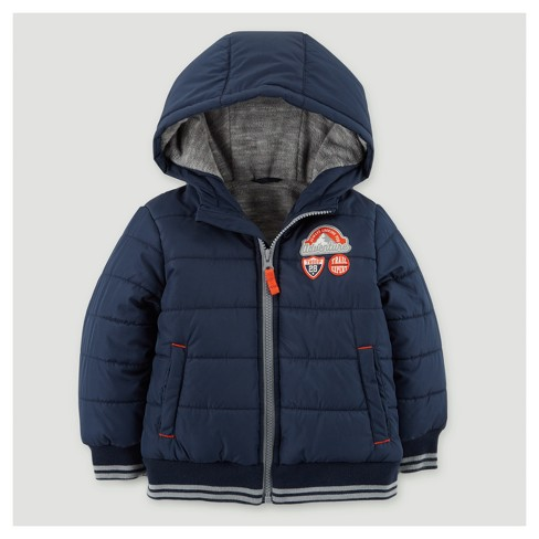 Toddler Boys' Puffer Jacket - Just One You® made by carter's Navy - image 1 of 1