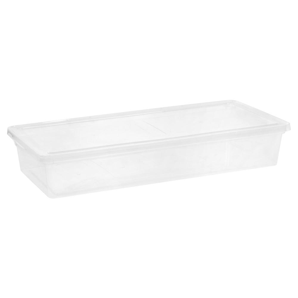 Iris 41 Qt Plastic Storage Bin - 6 Pack, Clear