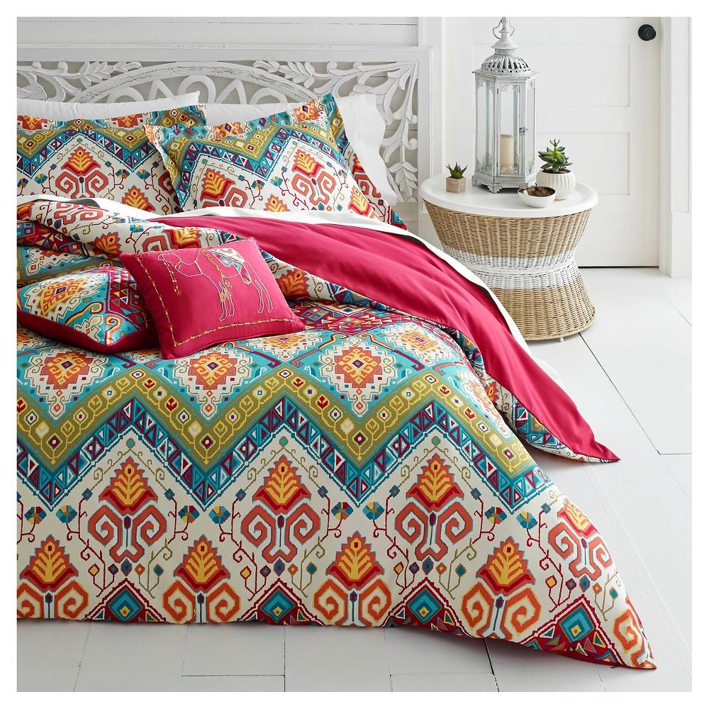 Image of 3pc King Moroccan Comforter Set Red- Azalea Skye, Multicolored Red