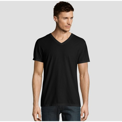 Hanes Premium Men's Short Sleeve Black Label V-Neck T-Shirt - image 1 of 3