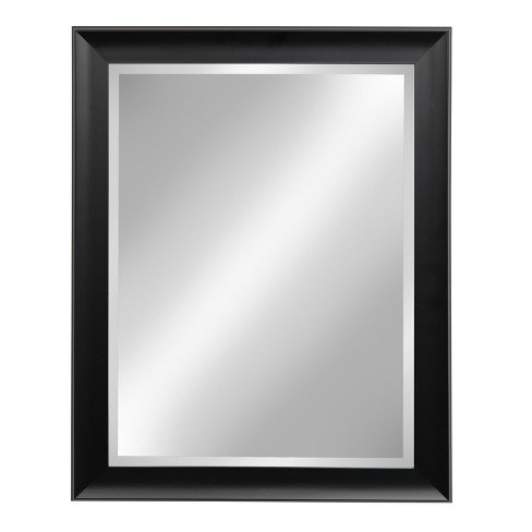 "Kate & Laurel 22""x28"" Scoop Framed Beveled Decorative Wall Mirror Black - image 1 of 5"