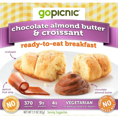 GoPicnic Chocolate Almond Butter & Croissant Ready-To-Eat Breakfast - 2.9oz - image 1 of 1