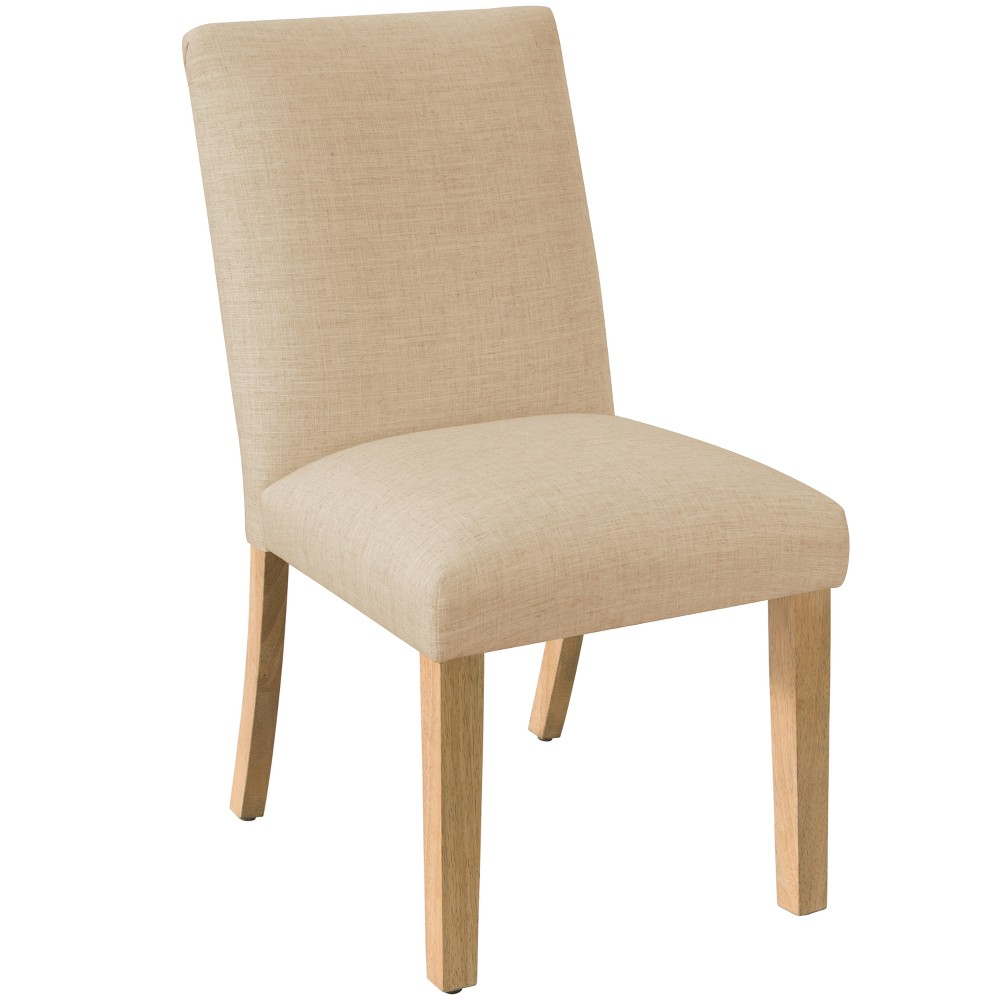 Pleated Dining Chair Linen Sandstone Furniture - Skyline Furniture