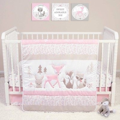 Sammy and Lou Sweet Forest Friends Crib Bedding Set - 4pc