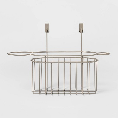 Over the cabinet Hanging Storage Hair Care Caddy Brushed Nickel - Threshold™