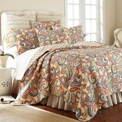Alyssa Paisley Quilt and Pillow Sham Set - Levtex Home