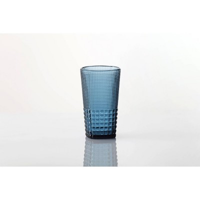15oz 6pk Crystal Malcolm Ice Beverage Glasses Blue - Fortessa Tableware Solutions