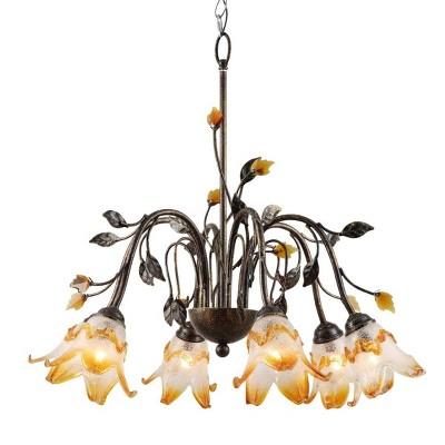 OK Lighting Windance Floral Ceiling Lamp