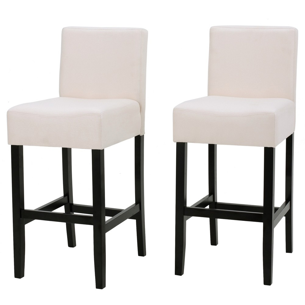 Set of 2 26 Lopez Fabric Counter Stool Beige - Christopher Knight Home was $199.99 now $129.99 (35.0% off)