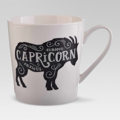 Porcelain Zodiac Capricorn Mug 18oz White - Threshold™