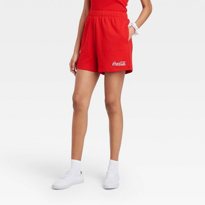 Women's Coca Cola Graphic Jogger Shorts - Red