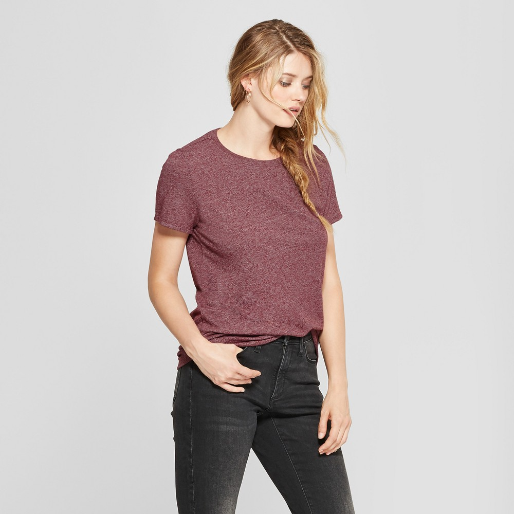 Women's Meriwether Crew Neck Short Sleeve T-Shirt - Universal Thread Burgundy (Red) XS