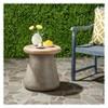 Button Round Concrete Accent Table - Dark Gray - Safavieh - image 2 of 4