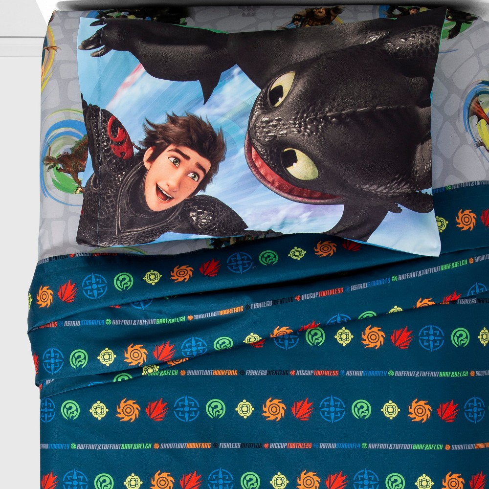 Image of How to Train your Dragon 3 Twin Sheet Set