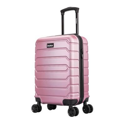 "InUSA Trend 20"" Lightweight Hardside Carry On Spinner Suitcase - Rose Gold"