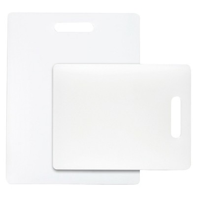 Dexas 2 Piece Polysafe Cutting Board Set - White