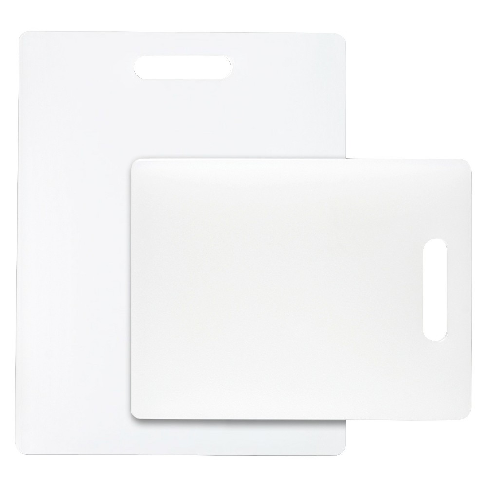 Image of Dexas 2 Piece Polysafe Cutting Board Set - White