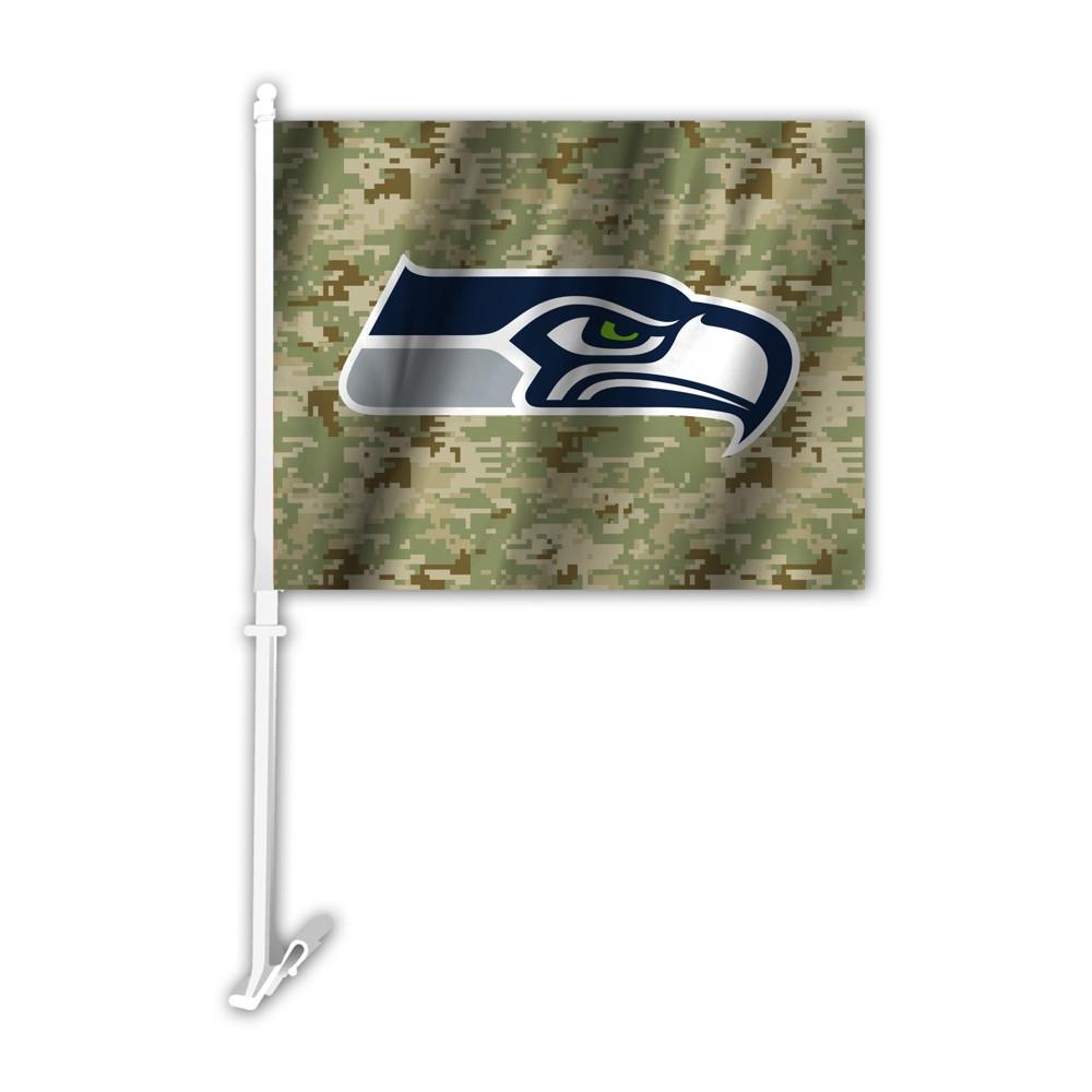 NFL Seattle Seahawks Camo Car Flag