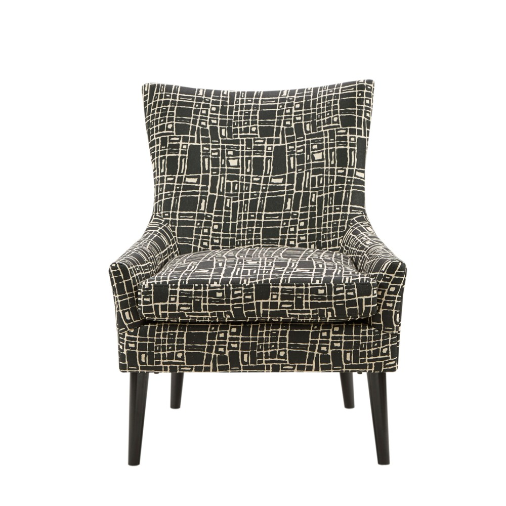 Accent Chairs Black Cream, Black/Ivory