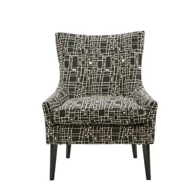 Accent Chairs Black Cream