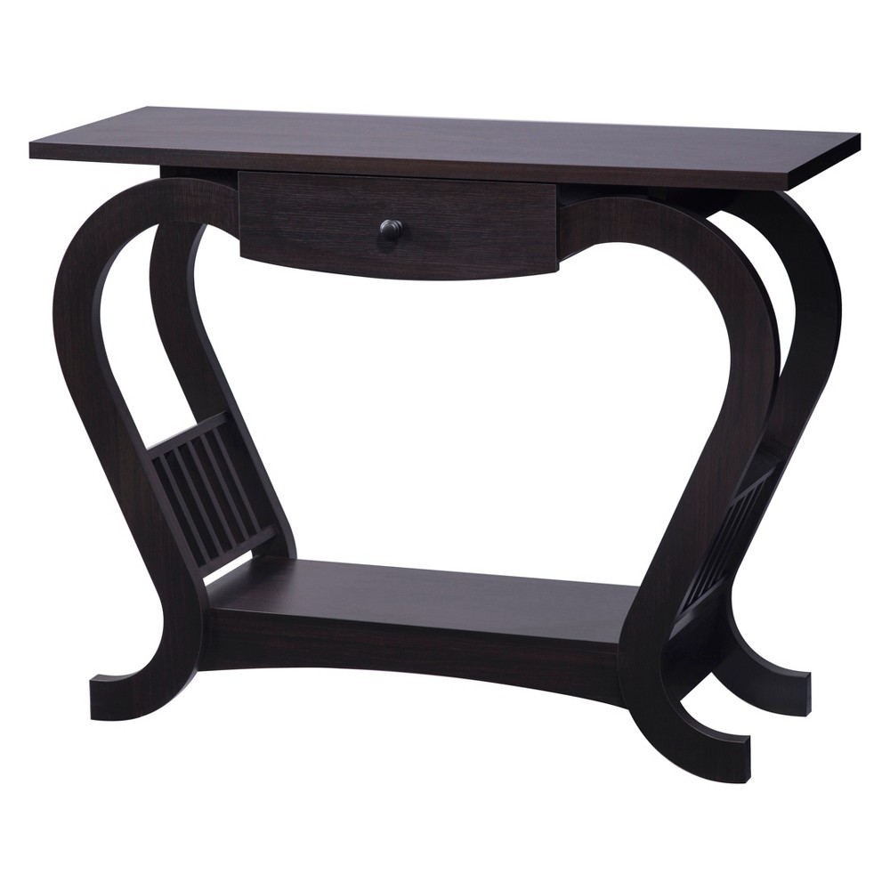 Elliot Console Table Espresso (Brown) - Homes: Inside + Out