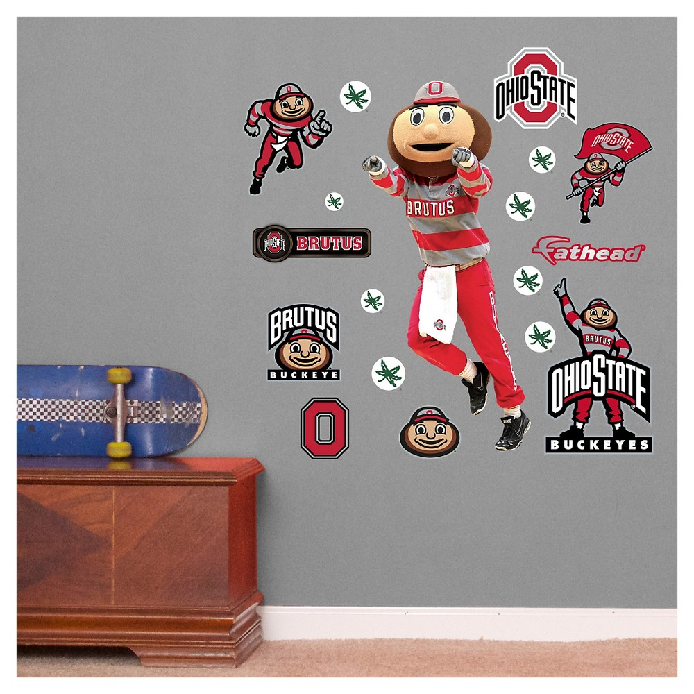 NCAA Ohio State Buckeyes Wall Decal, Ohio State Buckeyes - Brutus